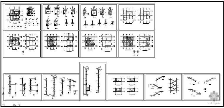 某二层带阁楼砖混结构别墅建筑结构图