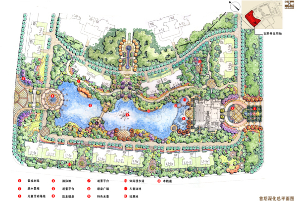 [合集]3套居住区景观设计概念方案(著名设计公司)