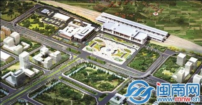 泉州动车站综合交通枢纽站项目开建,预计2019年完工投用!