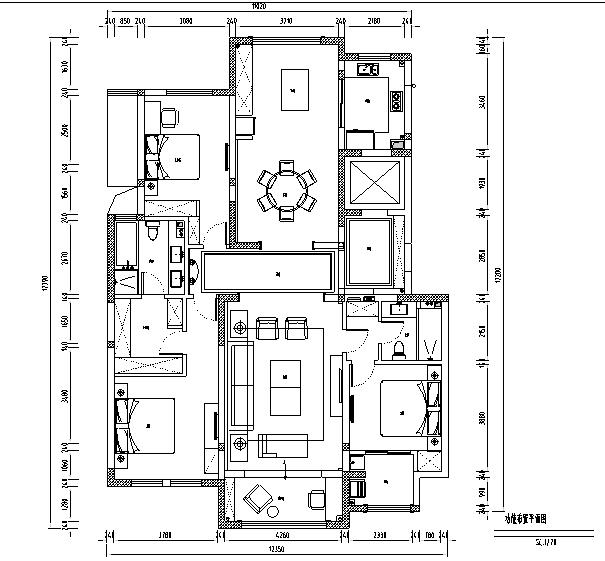 美式轻奢别墅设计施工图(附效果图)_1