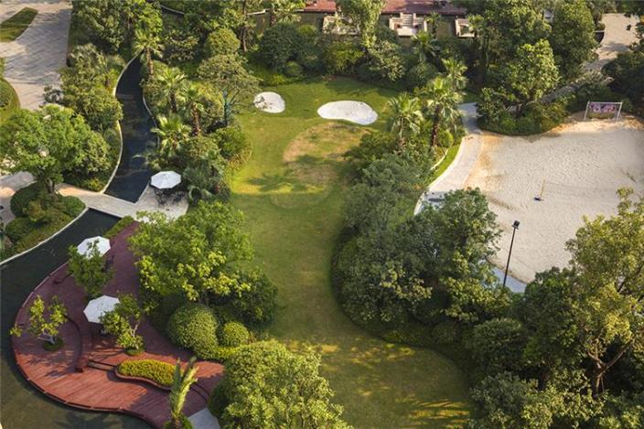 杭州融创瑷颐湾住宅景观的实景图 (3)