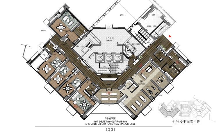 CCD新作-华润城润府一期某会所设计施工图