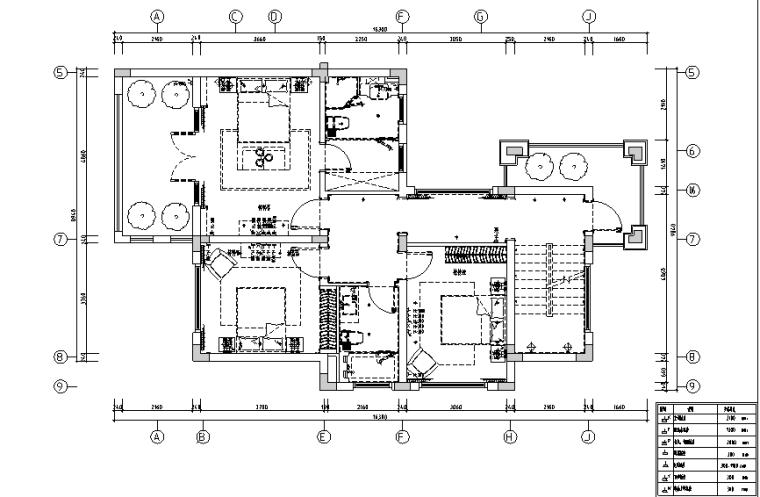 [上海]风景水岸样板房设计施工图(附效果图+模型)