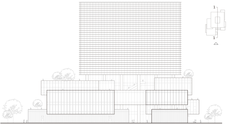 珠海天圆地方概念的医药科技产业园总部大楼-13