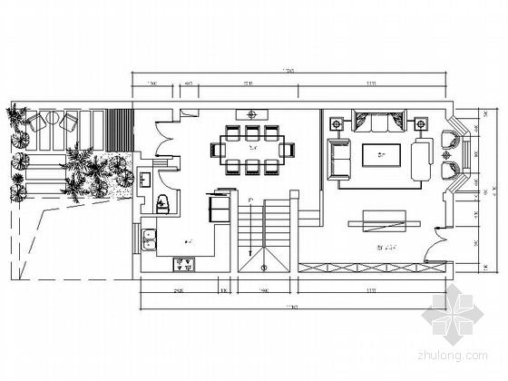 [江苏]旅游胜地精品田园风情三层别墅CAD装修施工图(含软装方案)