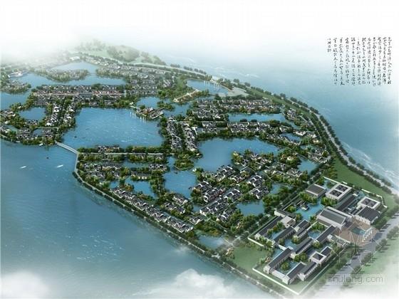 [湖北]新中式风湖翔水镇酒店规划设计方案文本(知名设计院)