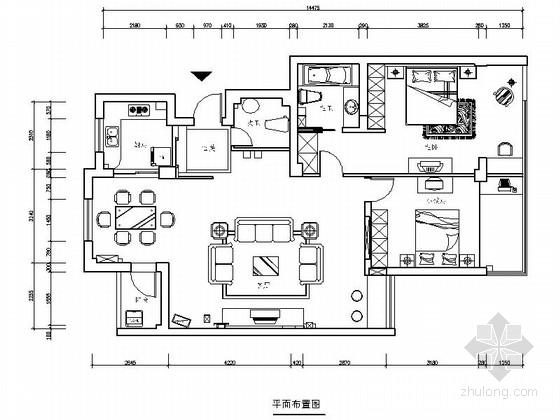 [北京]高端私家花园小区现代时尚两室一厅装修图