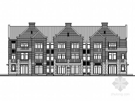 [上海]三层联排及双拼式别墅建筑施工图