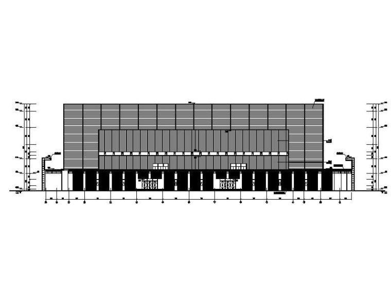 三层县级钢网架金属屋面丙型体育中心建筑