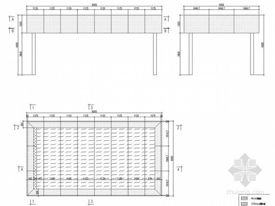 钢结构福特汽车展亭大样图