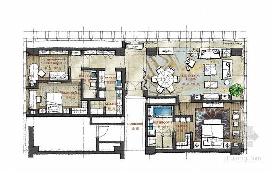 [南京]高档国际广场酒店式公寓概念设计方案