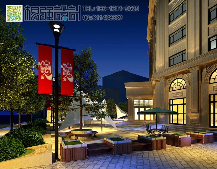 哈尔滨欧式建筑外观改造设计—杨强设计-06建筑外观-(夜景).jpg
