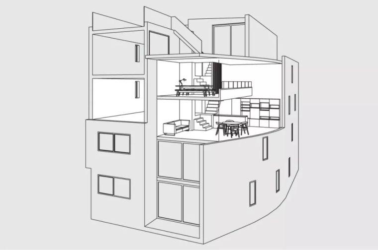 建筑师独立开发的公寓楼,真是好房子!_12
