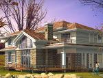 2层独栋别墅建筑方案设计欧式风格(包含效果图+CAD)