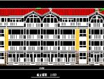 四层联排式别墅设方案图纸