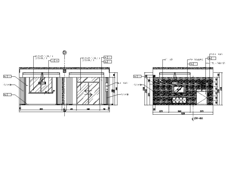 [福建]某休闲度假酒店设计CAD施工图(含效果图)-【福建】某休闲度假酒店设计CAD施工图(含效果图)立面图