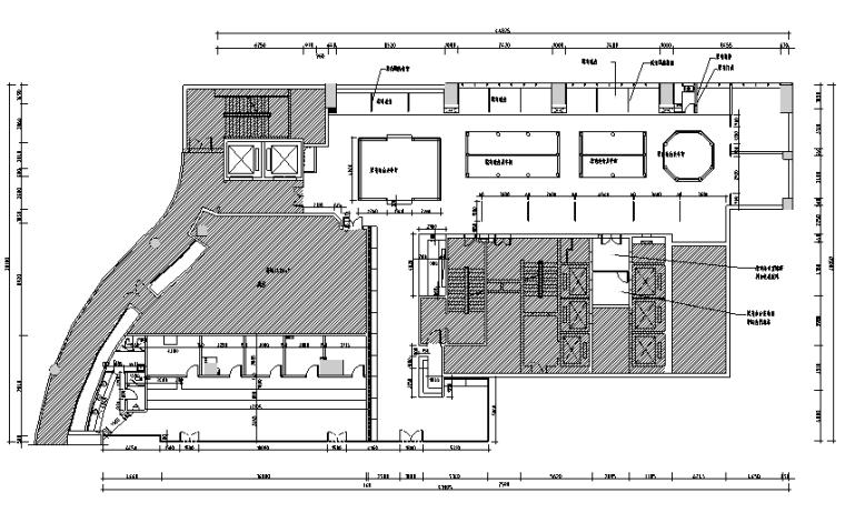 【新疆】新疆特色美食餐厅设计施工图(附效果图)_2