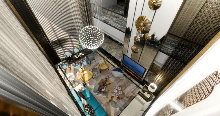 豪华loft室内设计客餐厅模型设计(2018年)-X 2