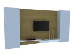 简单电视墙3D模型下载