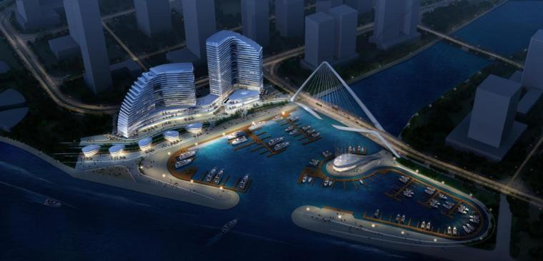 [广东]高层现代风格游艇主题综合体建筑设计方案文本