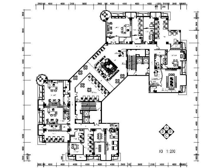 现代简约时尚房地产办公空间室内设计施工图