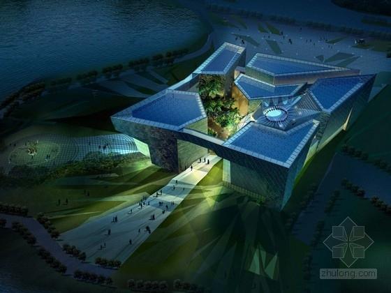 [合集]3套现代风格多层博物馆建筑设计方案文本