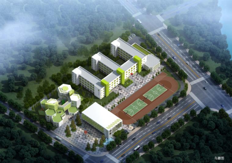 [浙江]多层绿色蜂巢造型小学及幼儿园项目建筑设计方案文本