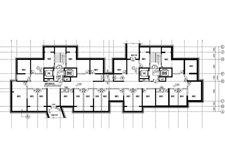[宁夏]银川市金溪里30层小区建筑150张全套施工图(建筑、结构、水暖电应有尽有)_6