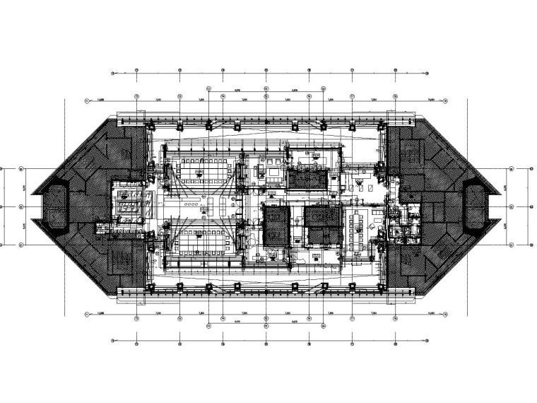 上海环球金融中心93层餐厅装修竣工图(附实景照片)