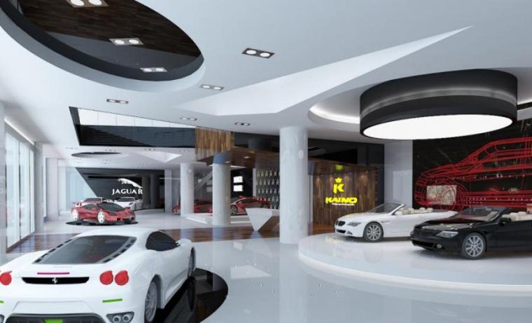 (原创)汽车4S店室内设计案例效果图-汽车4S店 (2)