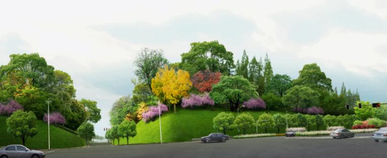 17套乡村道路景观效果图PSD素材(16)
