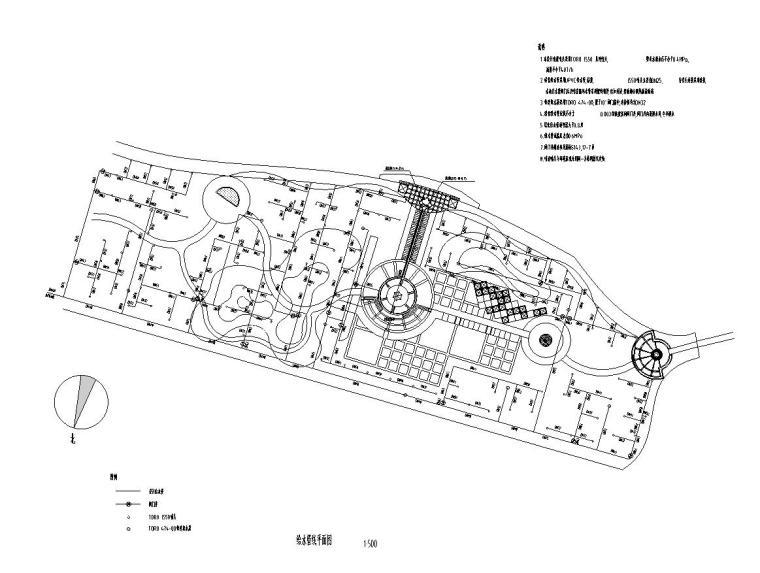 [北京]翠海明珠居住区全套景观施工图设计(给排水设计CAD)