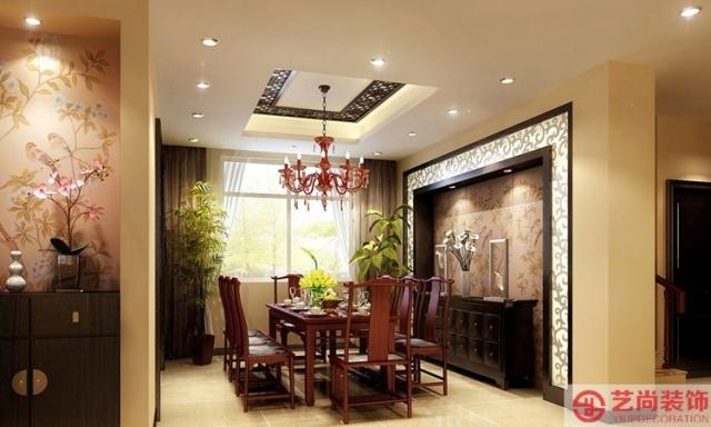怡丰森林湖170平方四室两厅新中式装修效果图