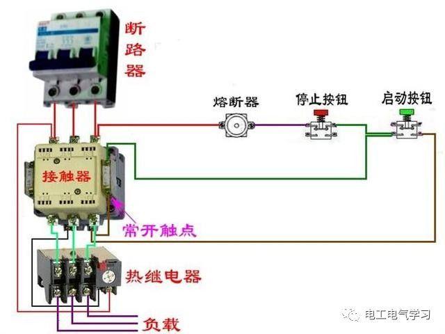 【电工必备】开关照明电机断路器接线图大全非常值得收藏!_45