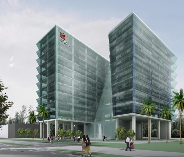 VIVO总部设计方案文本资料下载-[广东]东莞名巨总部大楼建筑方案文本设计PPT(49页)