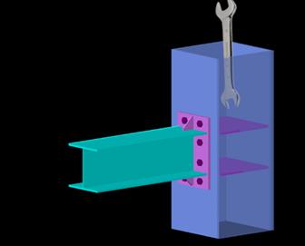 采用拉铆连接技术的新型装配式钢框架节点