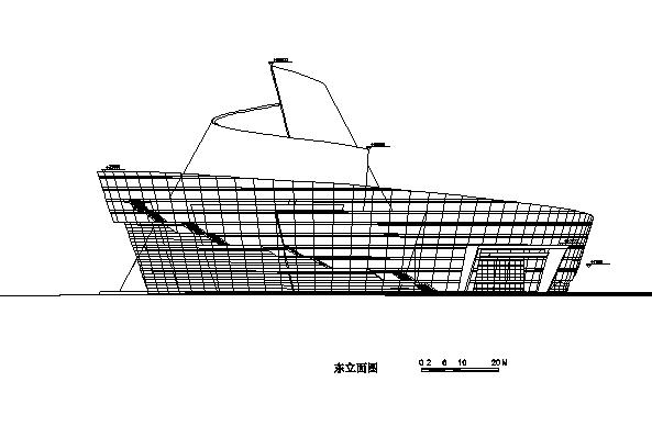 高层框剪结构东莞大剧院建筑施工图(地标建筑)