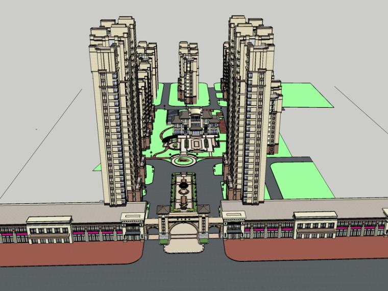 现代住宅SketchUp模型下载_3