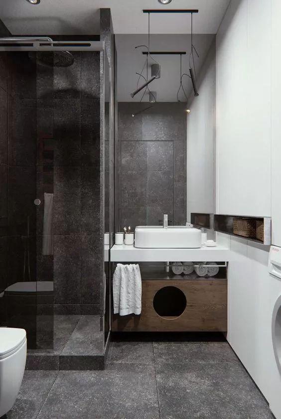 卫生间无法四室分离?这20个干湿分离方案很受欢迎!_14