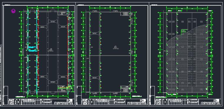 钢混框架结构拼接厂房施工图纸(含建筑结构、给排水)_2