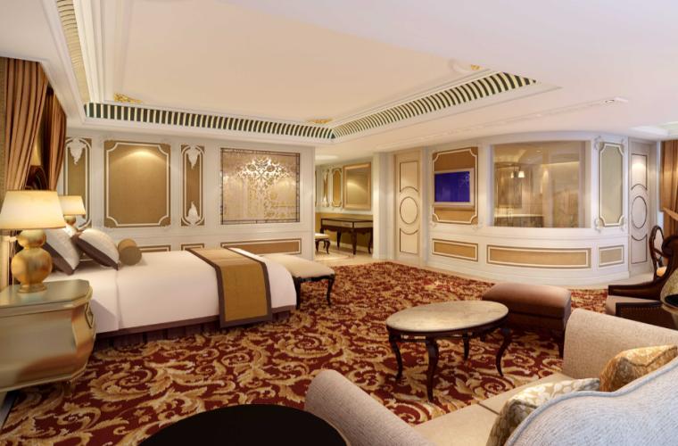 世代锦江国际酒店贵宾楼设计施工图(附效果图)-主人房效果图