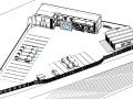 BIM模型-revit模型-加油站服務區模型