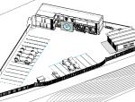 BIM模型-revit模型-加油站服务区模型
