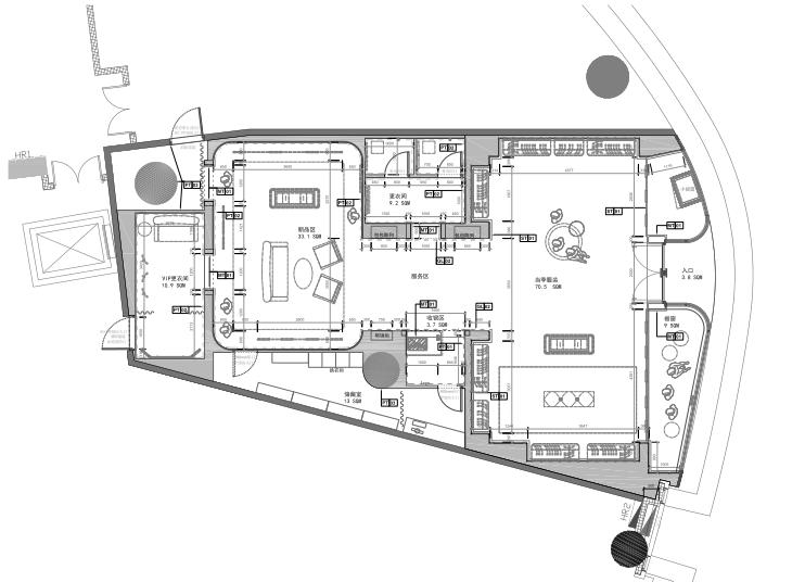 [大连]SAIDA世黛大连恒隆概念店设计方案+效果图+施工图+软装家具