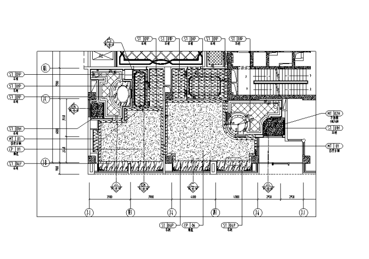 世代锦江国际酒店贵宾楼设计施工图(附效果图)-地面布置图