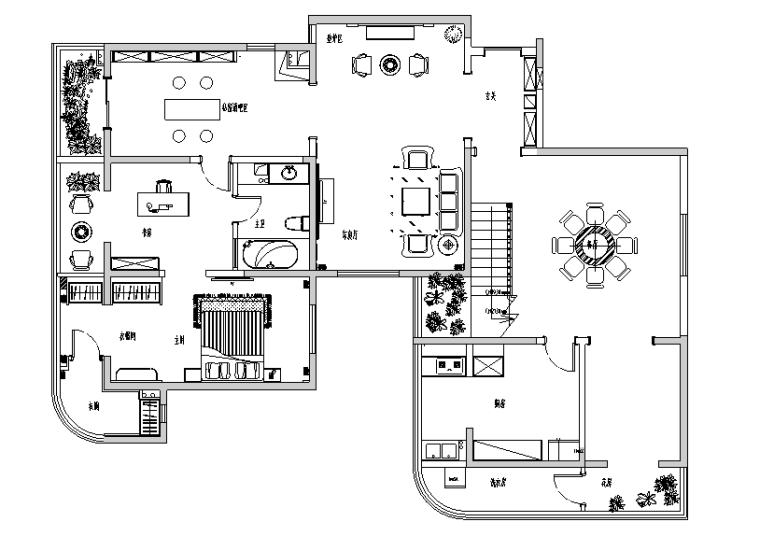 唯美意境空间别墅设计施工图(附效果图)