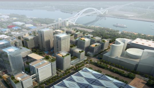 上海世博会地区地下空间工程办公楼项目创建上海绿色工地汇报