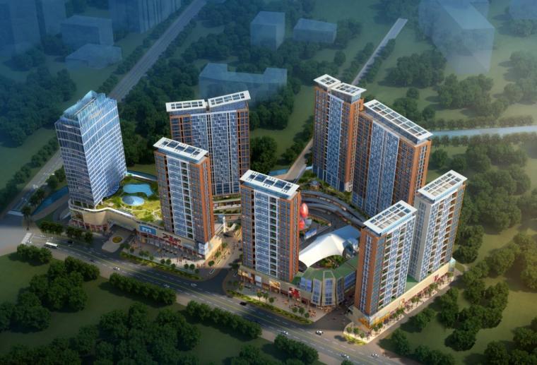 [深圳]22层现代风格城市综合体建筑设计方案文本