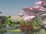 9套日式庭院su模型+cad施工图5套节点日式枯山水庭院