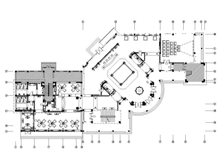 欧式风格大型房地产营销中心室内装修施工图(附效果图)